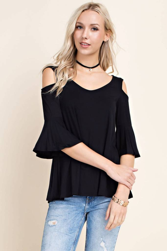 Joleen Ruffle Sleeve Top -