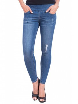 Lola Jeans Julia Mid-Rise Pull On Ankle -