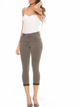 Rubberband Stretch Cropped Skinny-