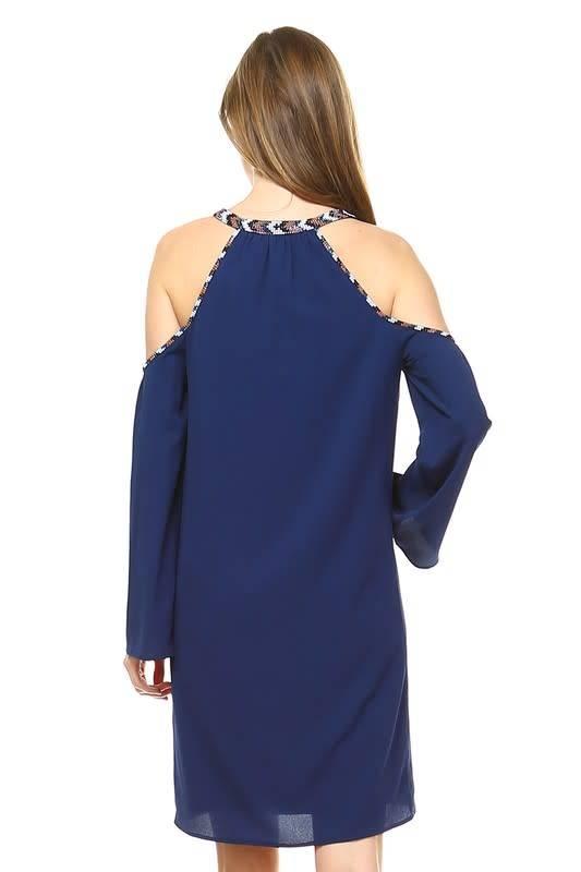 Lane Beaded Keyhole Dress -