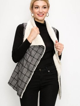 Vera Windowpane Plaid Vest -