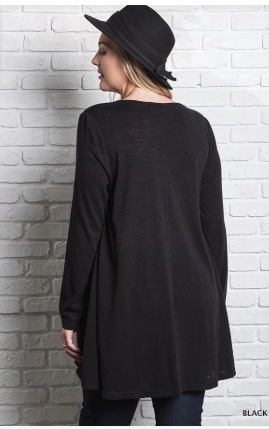 Gwen LS Layered Flared Tunic -