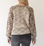 mystree mystree mix thread raglan sweater taupe