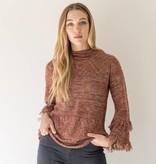 mystree mystree fringe bell sleeve pullover sweater