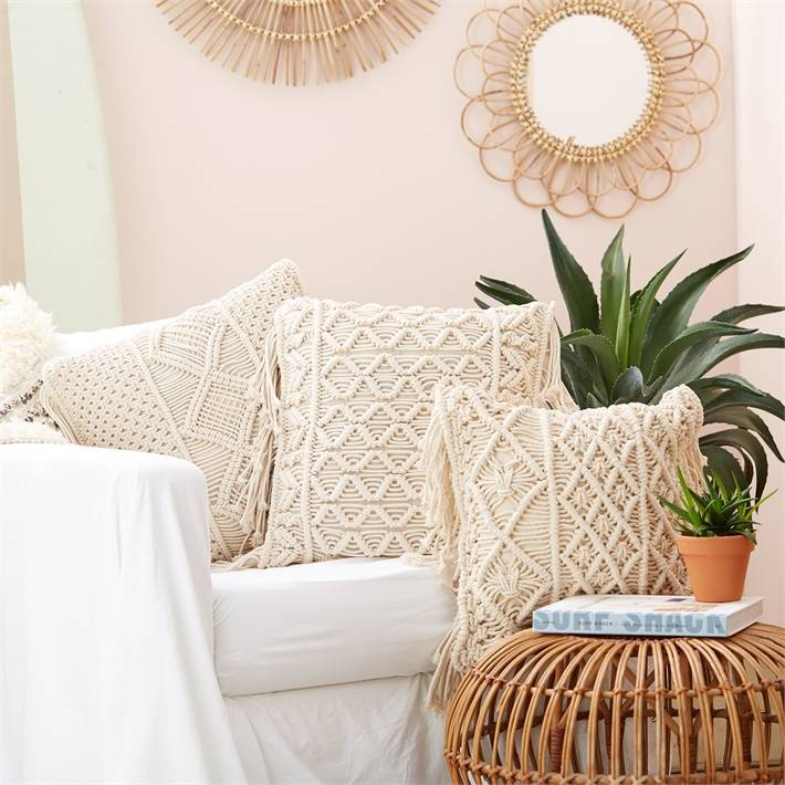 two's company two's co macrame pillow