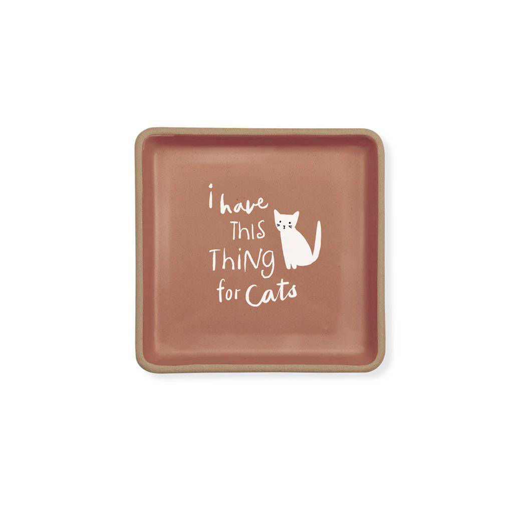 fringe studio thing for cats square dish