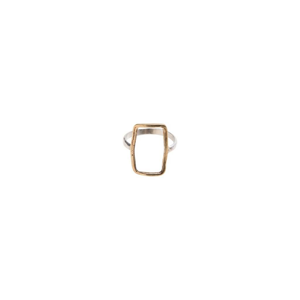 original hardware original hardware bronze short rectangle ring