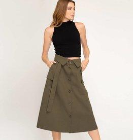 she + sky she + sky button down skirt
