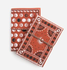 print fresh print fresh moon phase red bandana duo set