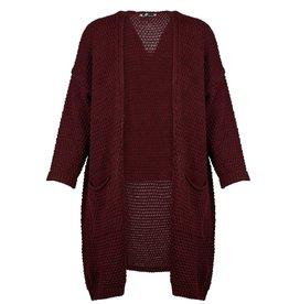 m italia m italia knitted open l/s cardigan w/ pocket
