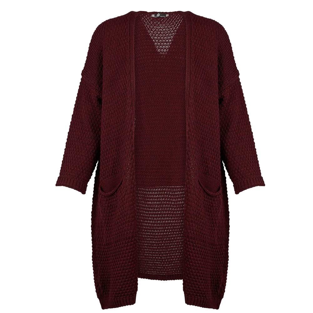 m italia m italia knitted open long sleeve cardigan w/ pockets