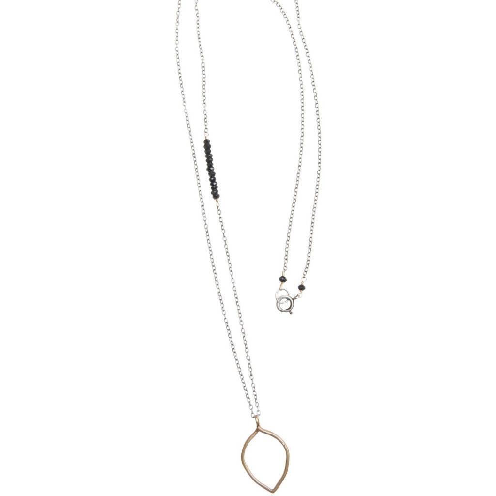 original hardware OH tangier black spinel necklace