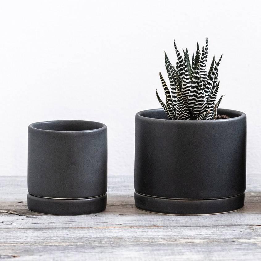 tandem ceramics tandem medium round planter