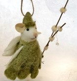roost roost flower fairy mouse ornament