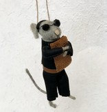 roost roost beatnik mouse ornament