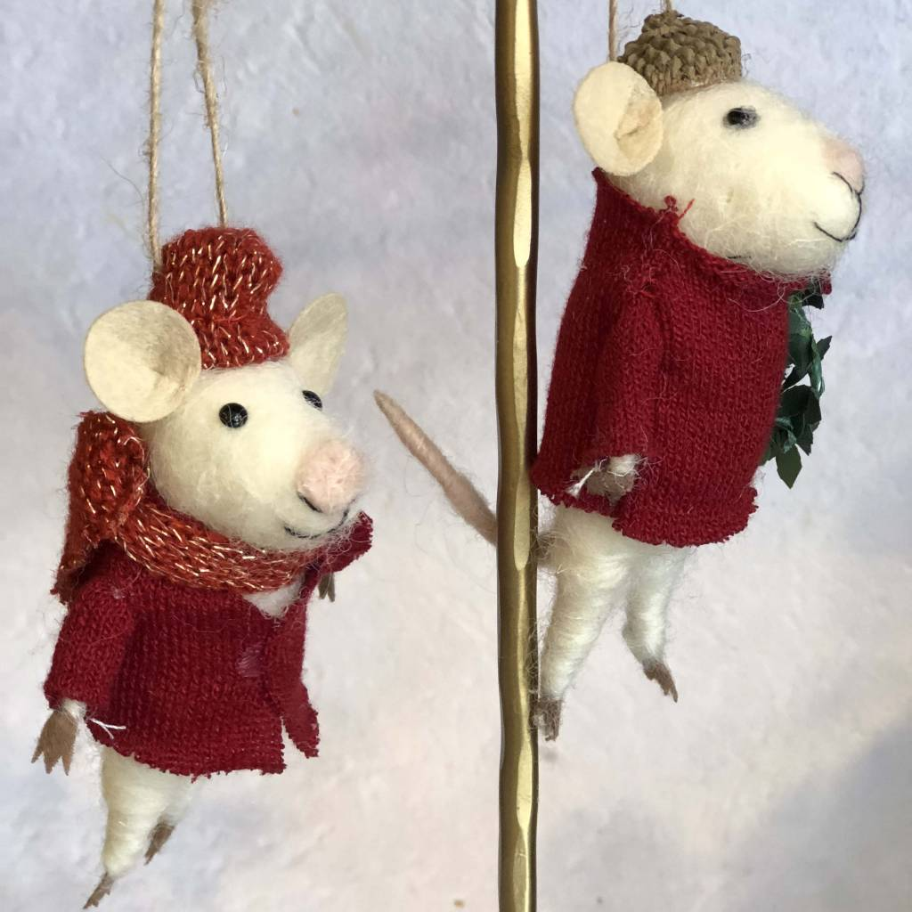 roost roost yuletide mouse ornament