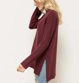 hem & thread hem & thread wine hi-lo sweater