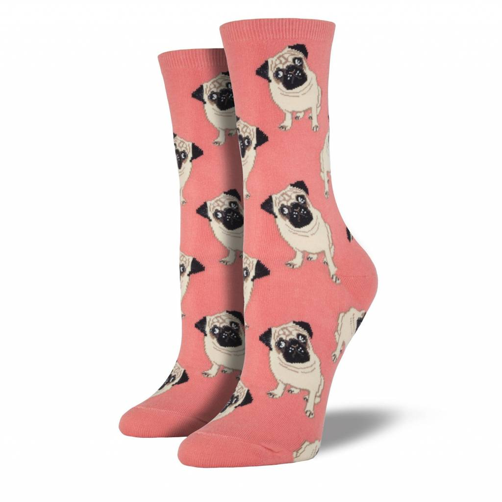 socksmith socksmith pugs socks peach