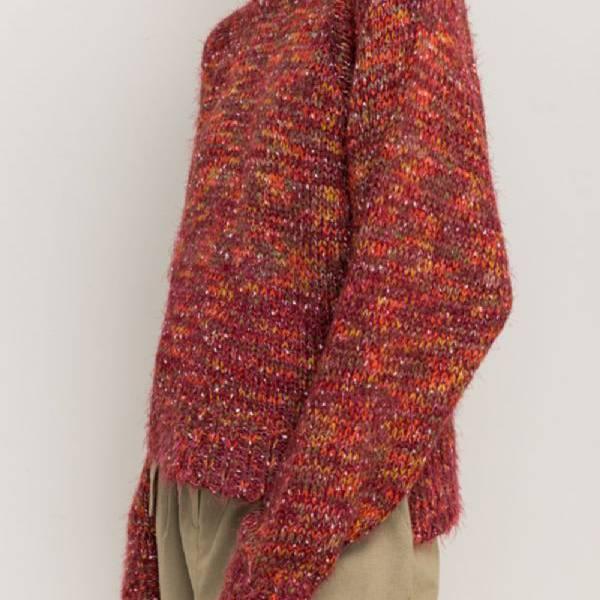 hem & thread hem & thread dolman sleeve wine sweater
