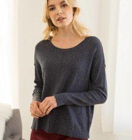 hem & thread hem & thread sprinkled easy pullover sweater navy