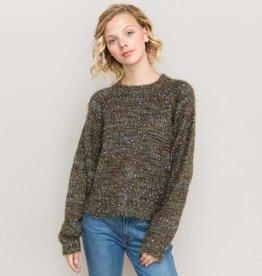 hem & thread hem & thread dolman sleeve olive sweater