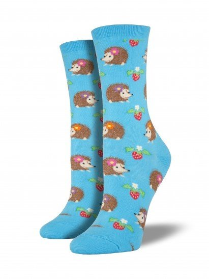 socksmith socksmith hedgehogs bright blue