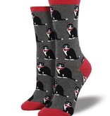 socksmith socksmith tuxedo cats heather gray