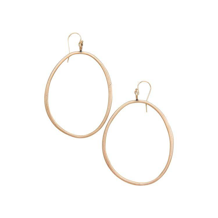 original hardware original hardware large organic hoops earrings