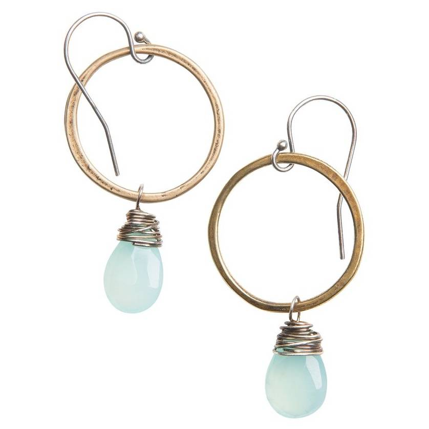 original hardware original hardware karma circle gemstone earrings