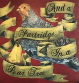 cody blomberg cody blomberg 6x6 partridge in a pear tree red
