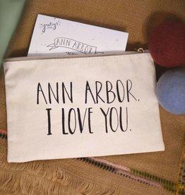 lovewild design lovewild design ann arbor I love you zippered pouch