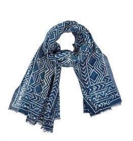 indaba indaba indigo diamond sheet scarf