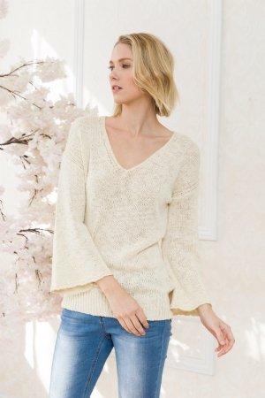 mystree mystree bell sleeve sweater