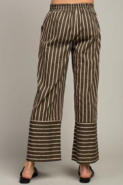 L Love L Love striped wide pants
