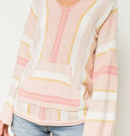 hem & thread hem & thread striped hoodie