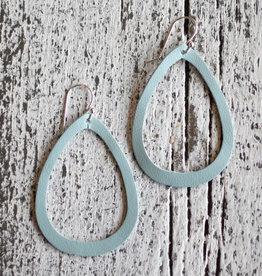 a spot of tee a spot of tee boho teardrop leather earrings