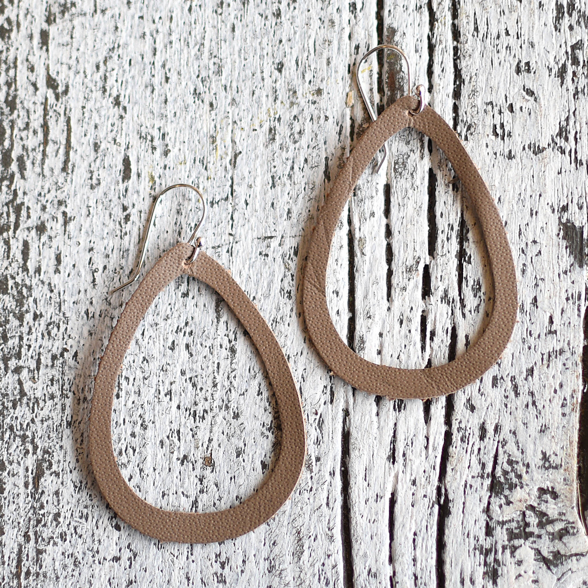 a spot of tee a spot of tee boho teardrop leather earrings