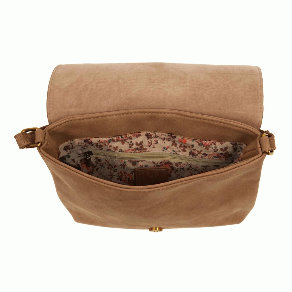 joy susan joy susan jackie large flap faux suede crossbody purse