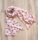 joy susan joy susan pale pink petite fifi scarf
