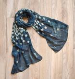 vsa vsa spotted ombre indigo polka dots scarf
