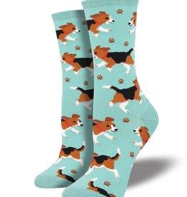 socksmith socksmith puppy prints sky blue