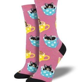 socksmith socksmith cat-feinated pink