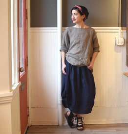 m italia m italia navy linen skirt