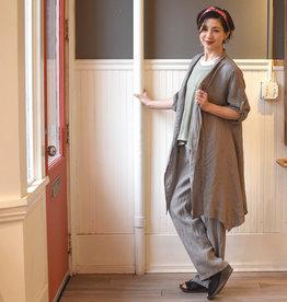 m italia m italia taupe linen cardigan