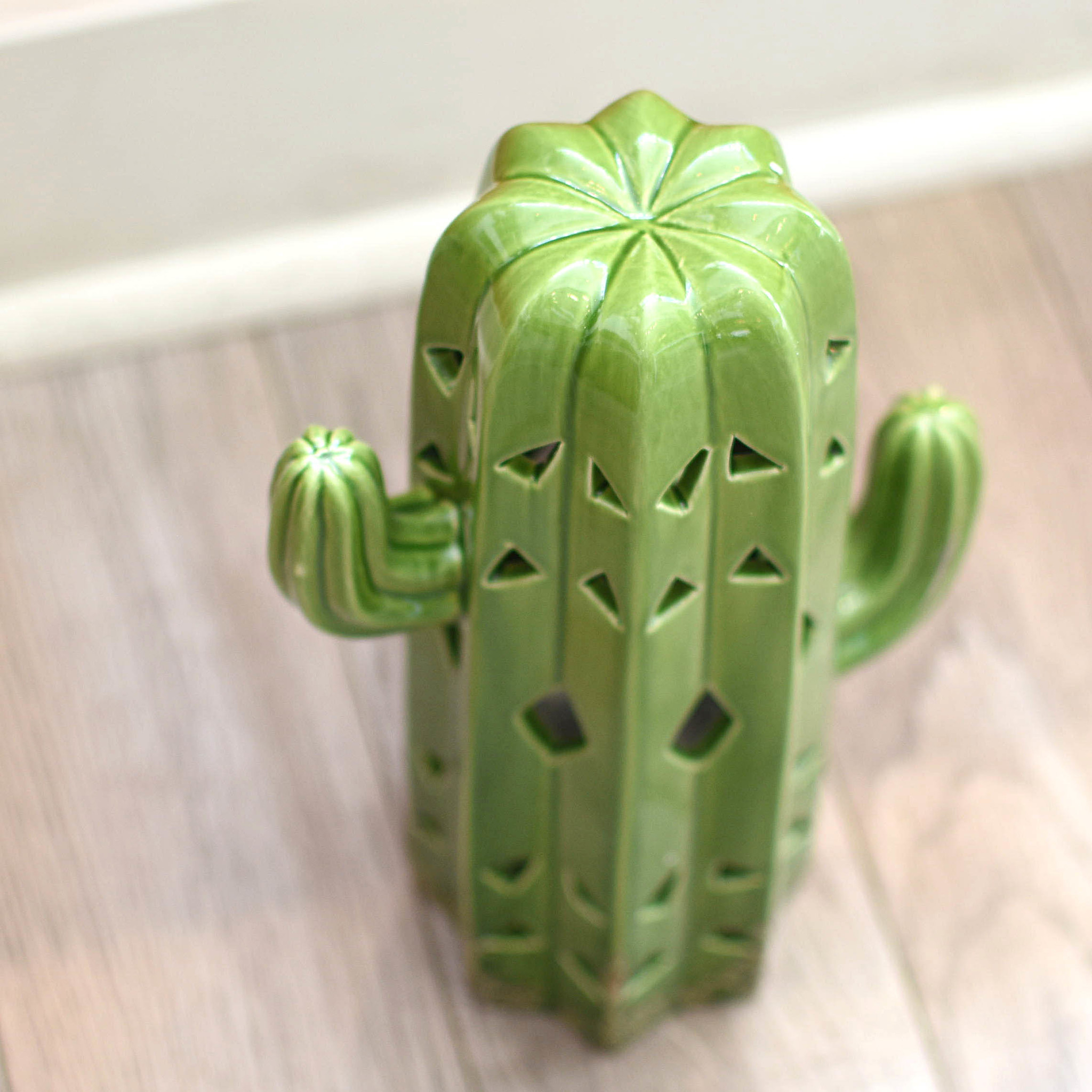 two's company two's co. cactus lantern
