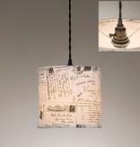 ctw vintage postcards pendant lamp
