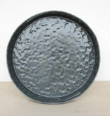 elizabeth benotti round pinched tray with handles