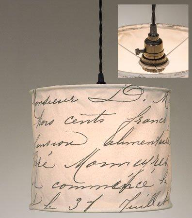 ctw vintage handwriting pendant lamp