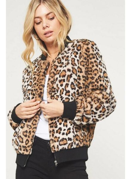 Promesa Promesa Faux Bomber Jacket Leopard