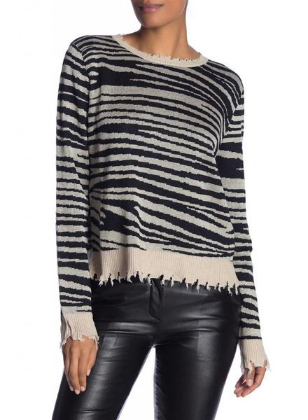 Fate Fate Animal Distressed Sweater